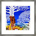 If A Tree Falls In Sicily White Framed Print