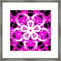 Illuminance Flower Framed Print