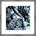 In Blue Nautilus  Framed Print