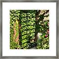 In The Courtyard Framed Print