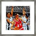 In The Game Framed Print