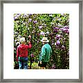 In The Lilac Garden Framed Print