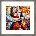 In The Rhythm Of Tango 2 - Palette Knife Oil Painting On Canvas By Leonid Afremov Framed Print