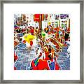 Indian Ceremonial Dance - 2002 Winter Olympics Framed Print