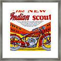 Indian Scout Framed Print