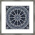 Indigo Flow Blue Kaleidoscope Framed Print
