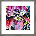 Intensely Orchid Framed Print
