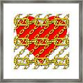 Iron Chains With Heart Texture Framed Print