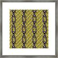 Iron Chains With Knit Seamless Texture Framed Print
