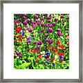 It Takes A Mix To Make A Garden Framed Print