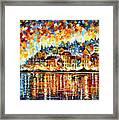 Italy Harbor Framed Print