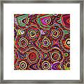 Janca Abstract Panel #097e10 Framed Print