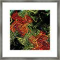 Janca Abstract Panel #5473w3 Framed Print