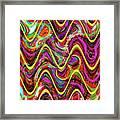 Janca Abstract Wave Panel #5at Framed Print