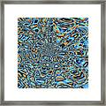 Janca Abstract With Blue 9646w3 Framed Print