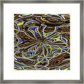 Janca Oval Abstract 4917 W3a Framed Print