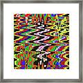 Jancart Drawing Abstract #8455wt Framed Print