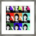 Jane Fonda Mug Shot X9 Framed Print