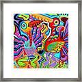 Jazz Birds Framed Print