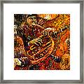 Jazz Gold Jazz Framed Print