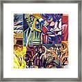 Jazz Squares Framed Print