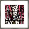 Jesus Christ Crucifixtion Stained Glass Framed Print