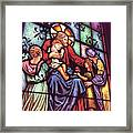 Jesus With The Children Framed Print
