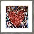 Jewel Heart Framed Print