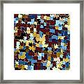 Jigsaw Abstract Framed Print