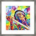 Jimi Hendrix Electric Framed Print