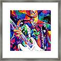 Jimi Hendrix Purple Framed Print