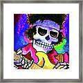 Jimi Hendrix, Soloing Framed Print