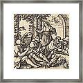 Job Conversing With His Friends Framed Print