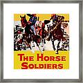 John Wayne And William Holden In The Horse Soldiers 1959 Framed Print
