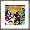 Jose Theodore The Goalkeeper Framed Print
