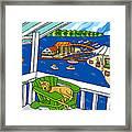 July 4th Snoozer - Cedar Key Framed Print