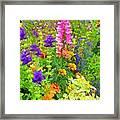 Juneau Has Flowers Framed Print