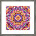 Kaleido - Rubiat 20a - Sq Framed Print