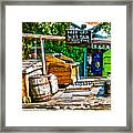 Keep Off Wet Tar It Don't Come Off Key West Florida Framed Print