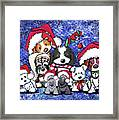 Kiniart Christmas Party Framed Print