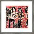 Kiss Watercolor Framed Print