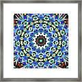 Kite Tiles Mandala Framed Print