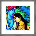 Krishna And Radha Framed Print