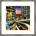 La Defense By Night - Paris Framed Print