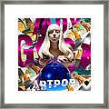 Lady Gaga Graphic Art Framed Print