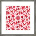 Lalabutterfly Red And White Framed Print