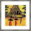 Procession To Temple, Lao Collection Framed Print