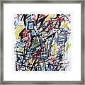 Large Abstract No. 5 Framed Print
