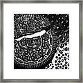 Large Oreo Black And White  Framed Print