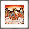 Last Supper Angels Framed Print